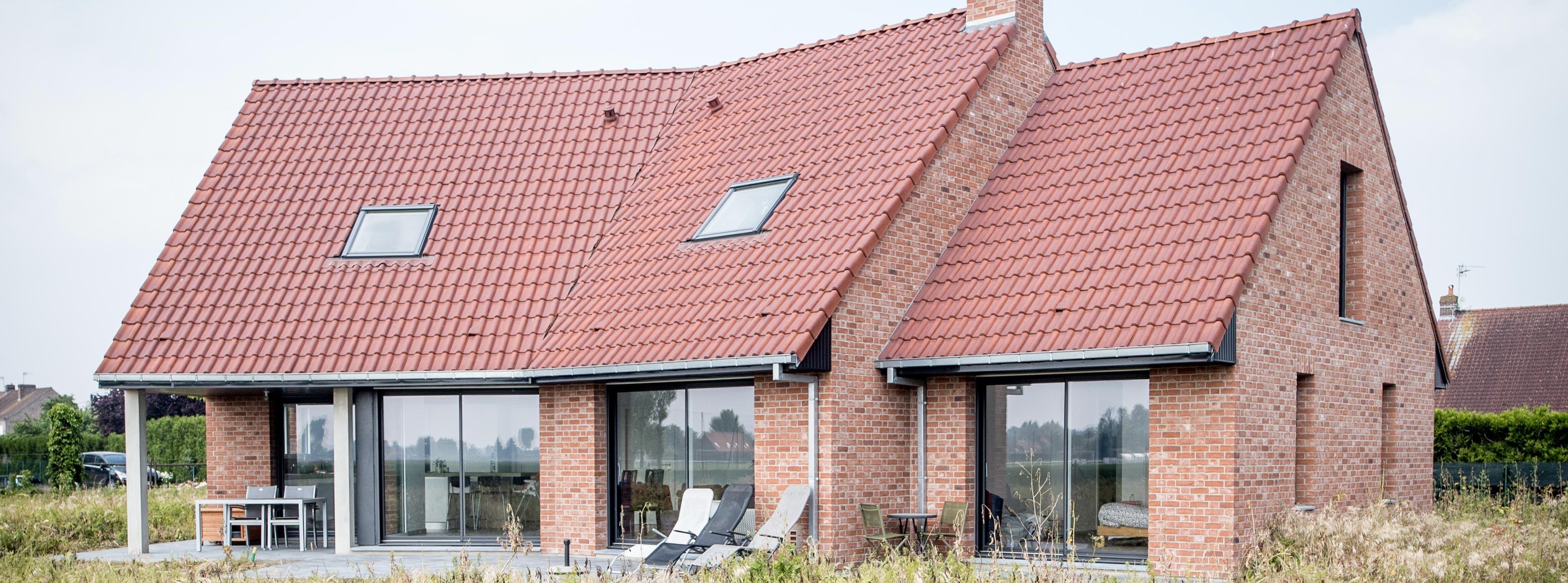 Maison traditionnelle briques croisées